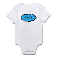 1 of 2 Blue Twins Baby Bodysuit