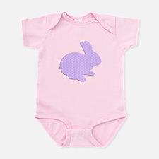 Purple Polka Dot Silhouette Easter Bunny Body Suit