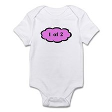 1 of 2 Pink Twins Baby Infant Bodysuit