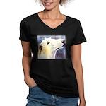 Borzoi Women's V-Neck Dark T-Shirt