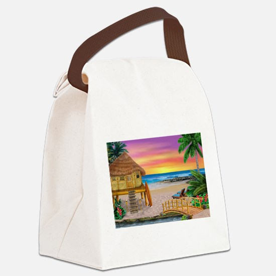 MY LITTLE GRASS SHACK Canvas Lunch Bag