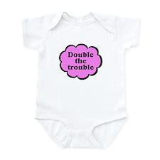 Double Trouble P Twins Baby Bodysuit