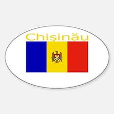 Chisinau, Moldova Oval Decal