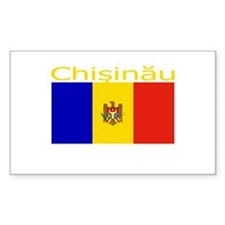 Chisinau, Moldova Rectangle Decal