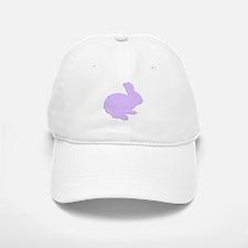 Purple Polka Dot Silhouette Easter Bunny Baseball