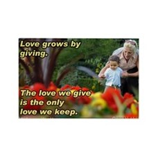 Love Grows Rectangle Magnet
