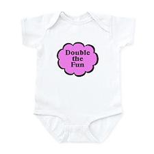 Double Fun P Twins Baby Infant Bodysuit