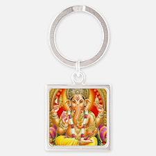GANESH HINDU GOD Square Keychain