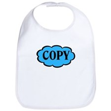 Copy Blue Funny Twins Bib