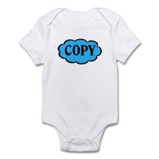 Copy Blue Funny Twins Baby Bodysuit