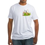 Egg and Meat Ducks Fitted T-Shirt