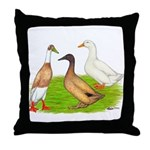 Egg and Meat Ducks Throw Pillow