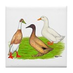 Egg and Meat Ducks Tile Coaster