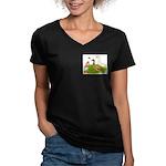 Egg and Meat Ducks Women's V-Neck Dark T-Shirt