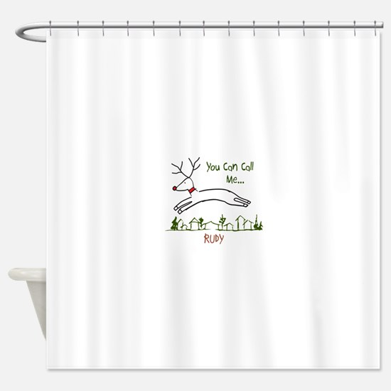 Flying Rudy Shower Curtain