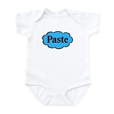 Paste Blue Funny Twins Baby Bodysuit