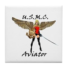 Marine Aviator Tile Coaster