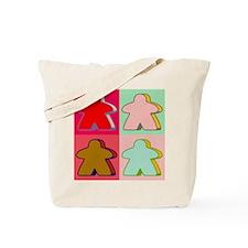 Pop Art Meeple Tote Bag
