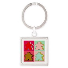 Pop Art Meeple Keychains