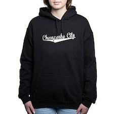Chesapeake City, Retro, Women's Hooded Sweatshirt