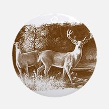 Wildlife Deers Ornament (Round)
