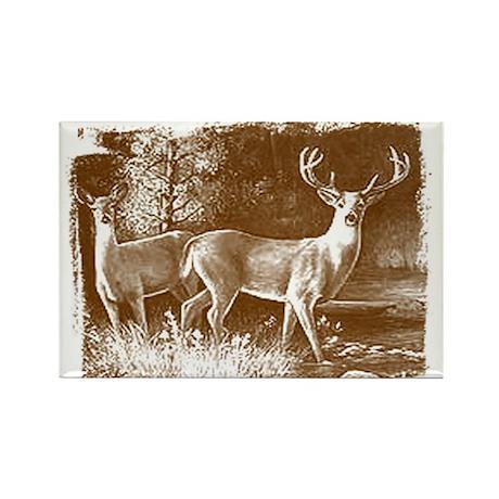 Wildlife Deers Rectangle Magnet (10 pack)