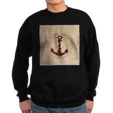 modern anchor burlap nautical art Jumper Sweater