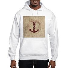 modern anchor burlap nautical art Hoodie Sweatshir