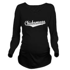 Chickamauga, Retro, Long Sleeve Maternity T-Shirt