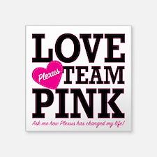 "Unique Warriors in pink Square Sticker 3"" x 3"""
