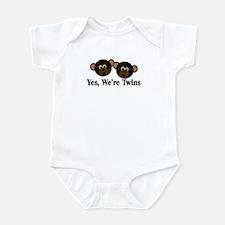 Twins Baby Monkeys 2 Boys Infant Bodysuit