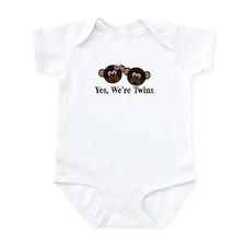 Twins Baby Monkeys 1g 1b Infant Bodysuit