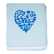 Connecticut Heart baby blanket
