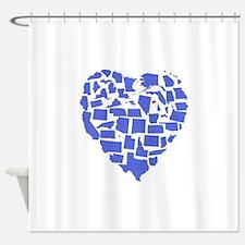 Connecticut Heart Shower Curtain
