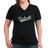 Chuckanut Womens V-Neck T-shirts (Dark)