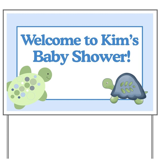 kims baby shower sign yard sign by artbyjessie