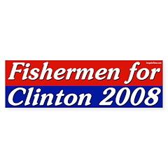 Fishermen for Clinton 2008 bumper sticker
