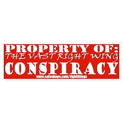 Vast Right Wing COnspiracy Bumper Bumper Sticker