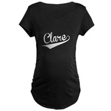 Clare, Retro, Maternity T-Shirt