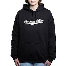 Clarkson Valley, Retro, Women's Hooded Sweatshirt