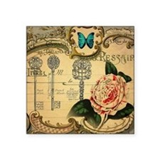 shabby chic vintage rose butterfly paris botanical