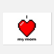 Love Mom 8bit Postcards (package Of 8)