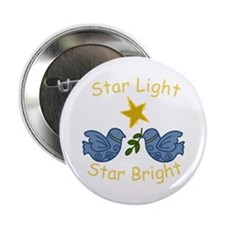 "Star Light Star Bright 2.25"" Button"