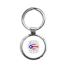 Boricua 100 Proof2 Round Keychain