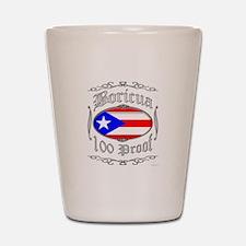 Boricua 100 Proof2 Shot Glass