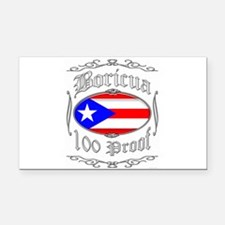 Boricua 100 Proof2 Rectangle Car Magnet