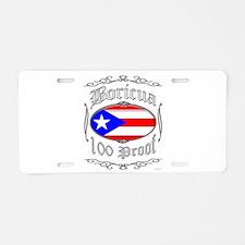 Boricua 100 Proof2 Aluminum License Plate