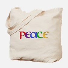 Rainbow Peace Letters Tote Bag