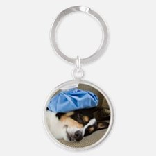 Get Well Soon Round Keychain