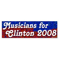 Musicians for Clinton 2008 bumper sticker